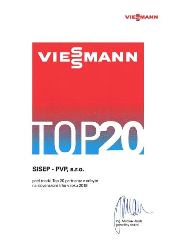 TOP 20 partnerov Viessmann